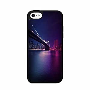 NYC Bridge Covered in Color TPU RUBBER SILICONE Phone Case Back Cover iPhone 5c