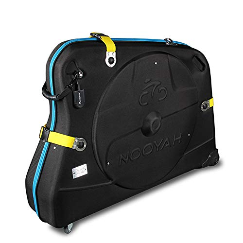 8d3561fc884 NOOYAH Bike Travel Case Hard Shell Bicycle Loading Box Road Bike Mountain  Bike Universal Wheel Shipping Box (48  x11  x34  )