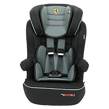 MyCarSit Ferrari High Back Booster Seat With Isofix Harness Grey