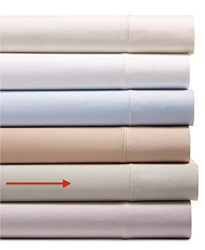 AQ Textiles 4 Piece King Sheet Set, 700 Thread Count Tencel Blend Bedding Silver