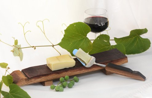 Wine Stave Server - Wine Barrel Stave Cheese Board Set