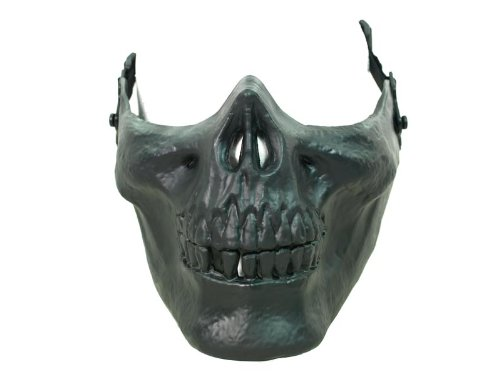 [Halloween Costume Mask - Black Skull Jaw Half Face Mask] (Halloween Costumes Gallery)