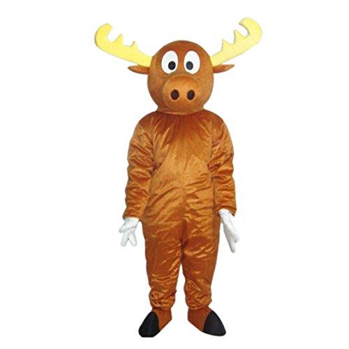 Reindeer Bear Mascot Costume Cartoon Halloween Party Dress Adult Size