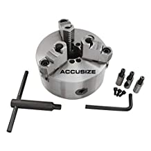 "Accusize - 6""/150mm D1-4 Two-Piece Reversible Jaws, 3 Jaw Lathe Chuck, Direct Mount, #0559-0101"