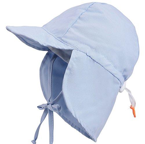 ThunderCloud Kid's SPF 50+ UV Sun Protective Adjustable Baby Hat,Light Blue,M ()