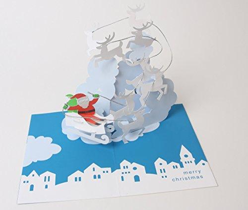 Robert Sabuda Reindeer Sleigh Boxed Holiday Pop Up Cards (Boxed Card Holiday Sleigh)