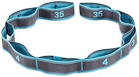 Wankd - Cinturón de gimnasia con 9 trabillas, 105 x 3,6 cm, correa elástica para mayor movilidad, cinturón elástico, fitness, pilates, fisioterapia