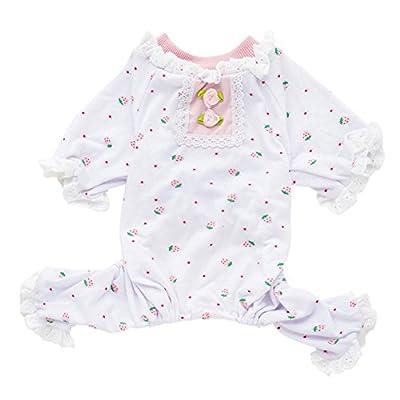 HOMEDECO Small Pet Dog Floral Shirt Puppy Pajamas Pet Clothes Apparel