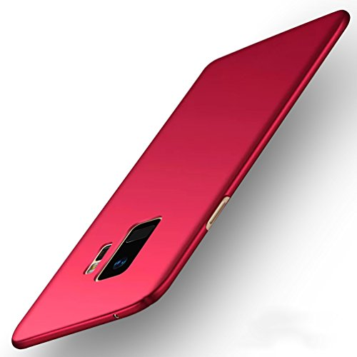 Anyos Galaxy S9 S9Plus Case, Slim Fit Matte Finish Minimalist Cover for Samsung GalaxyS9 S9Plus (Galaxy S9, Red)