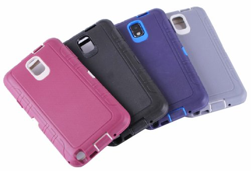 Pack of 4 Huaxia Datacom Heavy Duty Rugged High Impact Hybrid Armor Defender Case Combo for Samsung Galaxy Note 3 / Note III N9000 - Wholesale 4pcs/pack