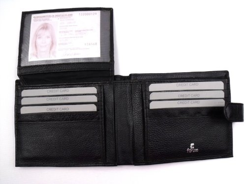Leather Leather Emporium Wallet Leather Gift With Box Black Mens Emporium 1qXwwZ5