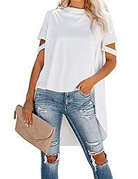 Annflat Women's Polka Dot Print High Waisted Long Flared Maxi Skirt