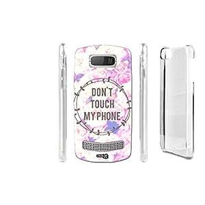 FUNDA CARCASA DON'T TOUCH MY PHONE PARA NOKIA ASHA 303