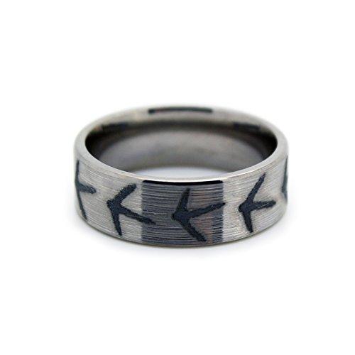 #1 Camo Turkey Hunting Band - Titanium Wedding Band - Ring Size 10
