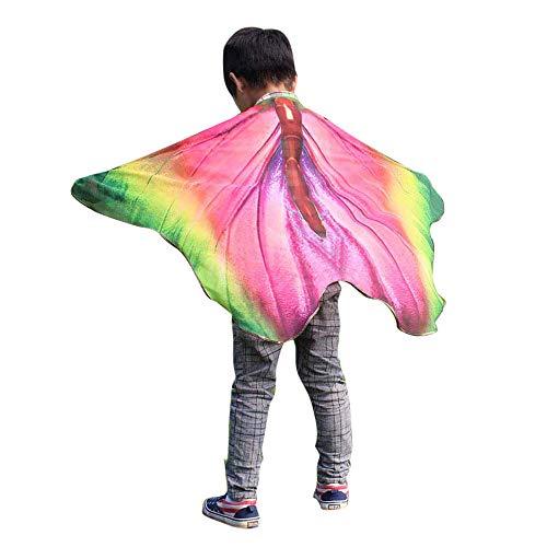 iLXHD Child Kids Boys Girls Chiffon Bohemian Butterfly Print Shawl Pashmina Costume Accessory ()