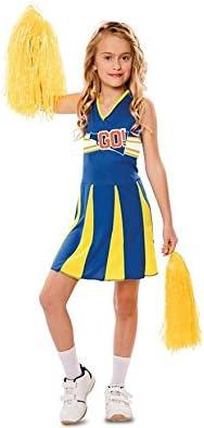 EUROCARNAVALES Disfraz de Animadora Azul y Amarilla para niña ...