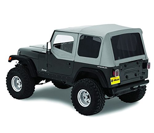 Bestop 51123-09 Charcoal Replace-A-Top Soft Top Tinted Windows w/Upper Door Skins for 1988-1995 Jeep Wrangler