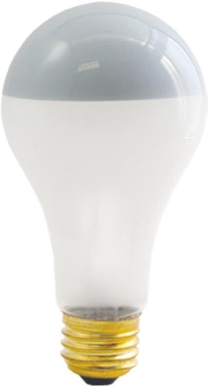 120 volts Pack of 2 Medium base Bulbrite 717100 100A21F//SB 100 Watt A21 Inside Frost Silver Bowl Incandescent