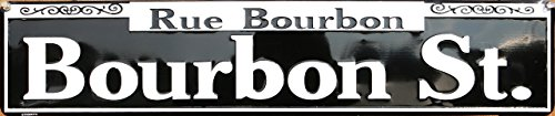 Rue Bourbon Tin Sign 24 x 5in ()