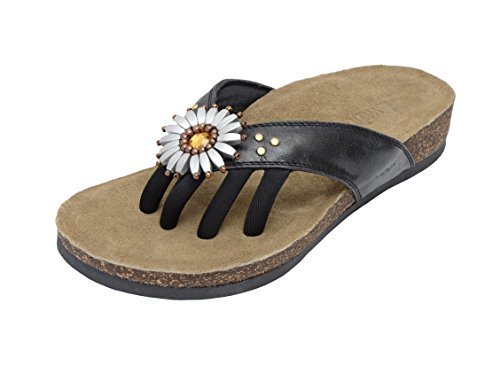 Wellrox Women's Santa Fee-Daphne Black Casual Sandal 9 by Wellrox