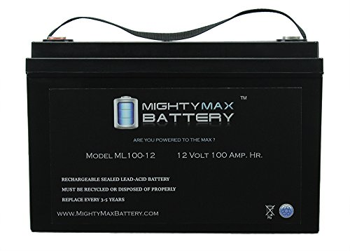12V 100AH BATTERY FOR SOLAR WIND DEEP CYCLE VRLA 12V 24V 48V - Mighty Max Battery brand product by Mighty Max Battery