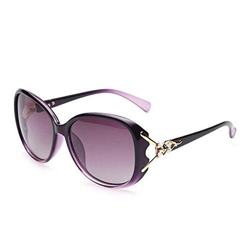 De Sol Gafas Visor Negro Polarizadas Solgafas Dama De Gafas Sol Gafas Uv De Violeta Dama Dama Violeta Limotai 7qOIAI