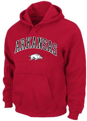 Arkansas Razorbacks Embroidered Hooded Sweatshirt by Genuine Stuff (M=40)