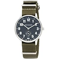 Jack Mason Watch Field Sub Second 38mm SS Black Dial Olive NATO Strap