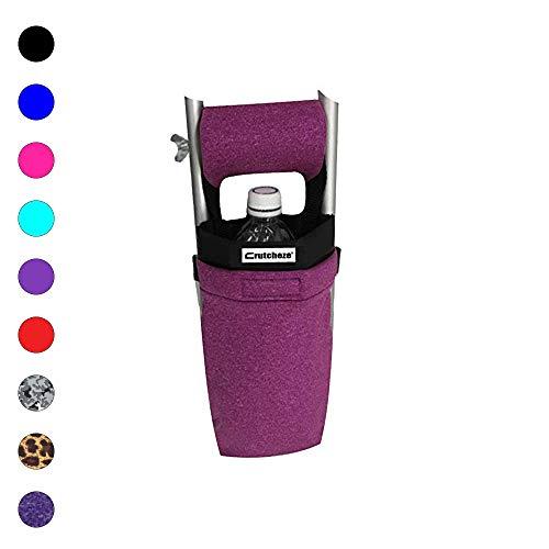 Crutcheze Pink Heather Crutch Bag, Pouch, Pocket, Tote Washable Designer Fashion Orthopedic Products ()