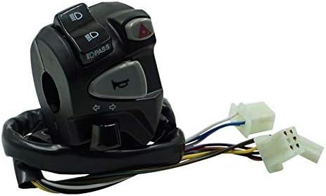 "JPLJJ 7/8""22 mm オートバイ ハンドルバー シグナル ホーンボタン コントロール スイッチ用 ハイ/ロービーム ヘッドライト フォグランプライト"