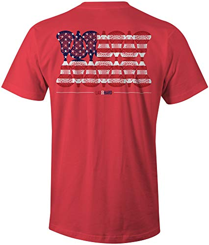 LAX SO HARD Boys American Lacrosse Red T-Shirt – DiZiSports Store