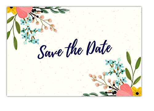 30 Save The Date Cards for Wedding, Engagement, Anniversary, Baby Shower, Birthday Party, Postcard Invitations, Blank Event Announcements, Floral]()