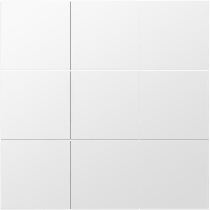 Espejos Decorativos de Pared Cuadrado Efecto Espejo Plateado Extraíble para Cuarto de Baño Porche Salón 45 X 45cm(9 Piezas de 15cm X 15cm)