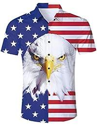 62aeb135d4 2019 Trend Men's Button Down Hawaiian Shirt Party Casual Short Sleeve Aloha  Tee