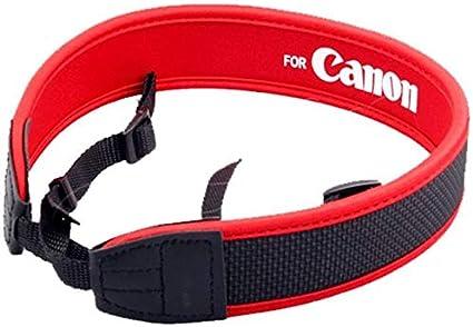 حزام كتف لكاميرا كانون بالتقنية الكهروضوئية - احمر