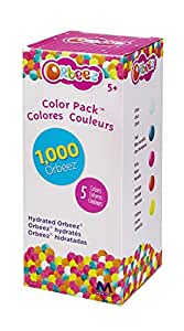 Orbeez Hydrated Colour Pack Refill, Hydrated Beads, 1000 Pack Water Beads