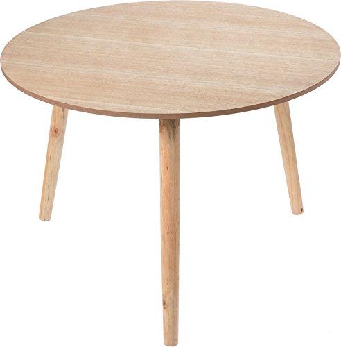 Dekorativer Design Beistelltisch - Holz Tisch rund 60 cm - Couchtisch Nachttisch Sofatisch