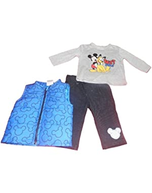 Mickey Mouse and Pluto Infant Boys 3pc Best Pals Vest Set