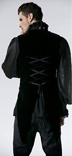 Forro de terciopelo negro con cola de pie separable Y-539 Punk Rave negro