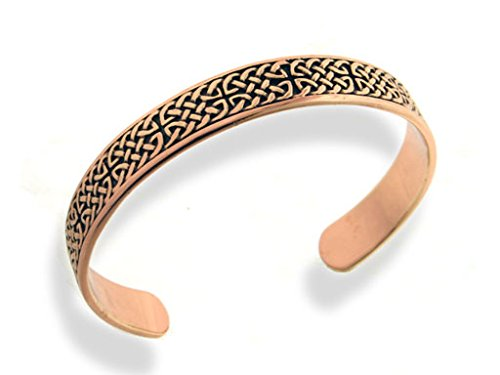 Mens Heavy Solid Copper Celtic