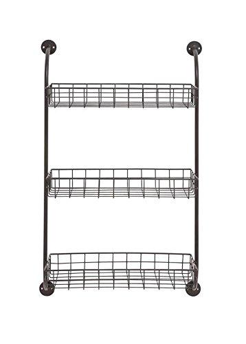 Deco 79 97242 Metal Wall Storage Rack