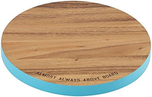 KSNY All in Good Taste Wood Cutting Board Round, Brown
