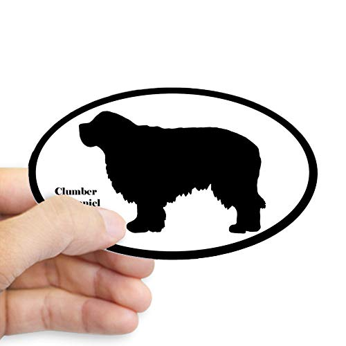 CafePress Clumber Spaniel Silhouette Sticker Oval Bumper Sticker, Euro Oval Car Decal