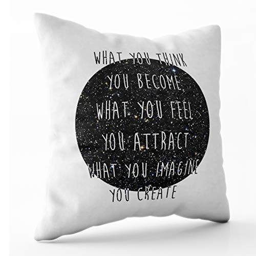 Shorping Zippered Pillow Covers Pillowcases 16X16 Inch Law of Attraction Decorative Throw Pillow Cover,Pillow Cases Cushion Cover for Home Sofa Bedding