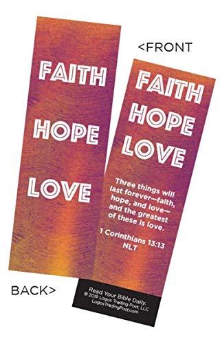 - Children's Christian Bookmark - Faith Hope Love | 1 Corinthians 13:13 | Pack of 25