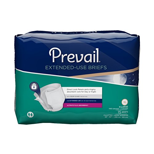 First Quality Pack - Prevail Extended Use Incontinence Briefs, X-Large, 15.0 Count