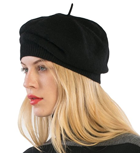 cashmere 4 U 100% Cashmere Beret Hat For Women