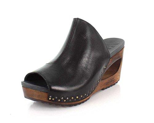 Sandal Calf Womens Tumbled Wedge Dansko Sage Black fwtqRCYx