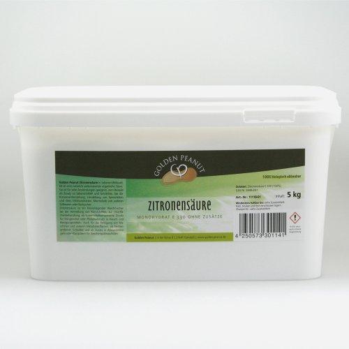 Golden Peanut Zitronensäure monohydrat E-330, Lebensmittelqualität 5 kg Dose