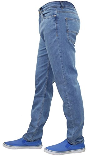 New Fly Jeans Hombres Slim Wash Stone Pantalones Fit Stretch Denim Zip G72 Pantalones algodón de qHdfgtZCq